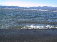諏訪湖の波